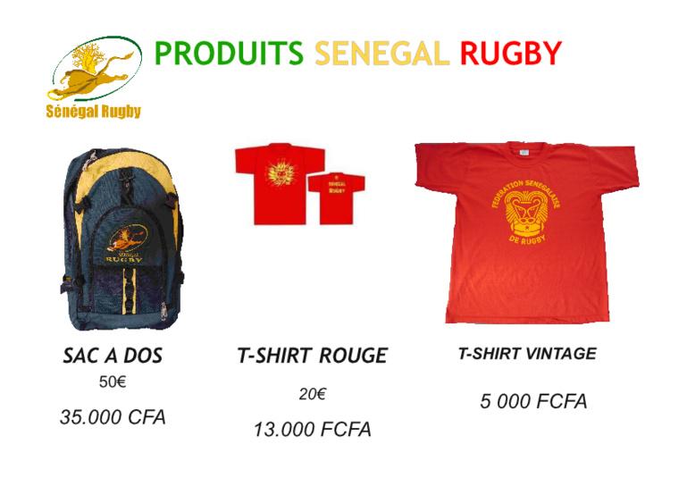 """Habillez-vous utile, soutenez  """" Sénégal Rugby """" !"""