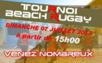 Beach Rugby ce week-end à Yoff !